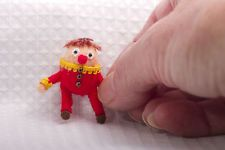 Handmade dolls house miniatures, 1/12th Humpty Dumpty for nursery or toy shop.