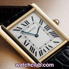 Cartier Tank Solo Yellow Gold- 'Large Size' REF: W1018855 | Year Nov 2012 - Cartier's most iconic creation, this Tank Solo is totally complete with its original box and papers...Fitted to a brand new black alligator Cartier strap with yellow gold pin buckle, this large 18ct yellow gold features a stainless steel caseback and is powered by Cartier's reliable quartz movement. Sporting a classic silver Cartier dial with hideen signature - for sale at Watch Club, 28 Old Bond Street, Mayfair…