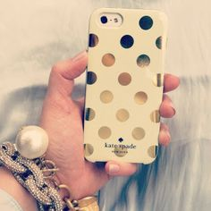 Kate Spade iPhone 5 case {gold dots}