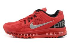 b8c80525e00f Nike Air Max 2013 Womens Running Shoes Red Silver Nike Shoes For Sale