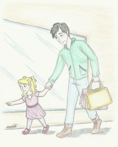 Please, Daddy! by DanyDaniella.deviantart.com on @deviantART Percy and his future daughter shopping