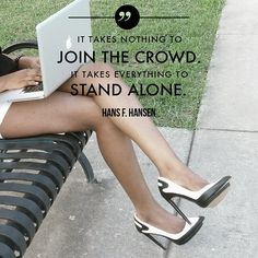 Stand Alone! Stand out from the crowd! #marketing #entrepreneur #smallbusiness #inspiration #entrepreneurs #content #prosync