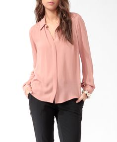Sheer Button Up | FOREVER21 - 2000021960