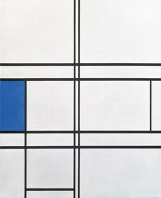 The of Piet Mondrian (Dutch, - Composition in Blue and White Piet Mondrian, Mondrian Kunst, Bauhaus, Modern Art, Contemporary Art, Pattern Texture, Three Primary Colors, Constructivism, Dutch Painters