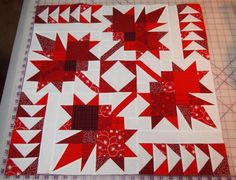 """""""Our Northern Neighbors"""" - she shows a great tips for sewing those part points""""; that sharp, long top point of each maple leaf. Quilt Block Patterns, Quilt Blocks, Quilting Projects, Sewing Projects, Quilting Tips, Quilting Tutorials, Diy Projects, Canadian Quilts, Quilts Canada"""