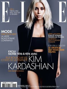 Kim Kardashian lands the March 27, 2015, cover from Elle France photographed by Jan Welters.