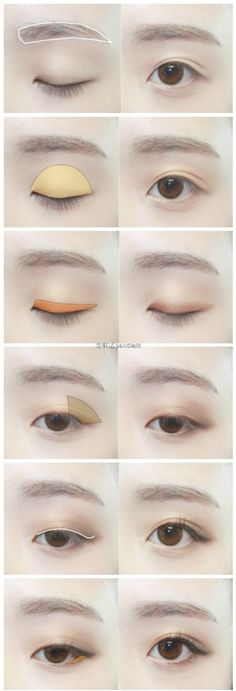 15 trendige Make-up-Tipps asiatische Augenbrauen Asian Eyebrows, Asian Eyes, Eye Brows, Arched Eyebrows, Asian Make Up, Korean Make Up, Make Up Korea, Korean Style, Ulzzang Makeup
