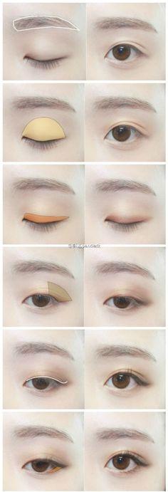 #panda桑韩妆推荐# 日常韩系棕色眼妆教程一枚。(cr.naver.gksthf7971)
