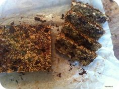 Glutenfree bread made of nuts and seeds with dark chocolate bits