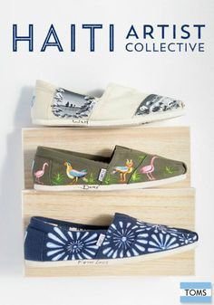 The TOMS Haiti Artist Collective employs Haitian artisans to hand-paint limited edition Classics.