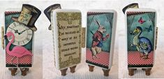 Artfully Musing: Alice in Wonderland 6 Impossible Things Domino Book New Alice Themed Domino Panels Collage Sheet