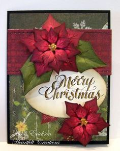 Click to Zoom: Poinsettias Card