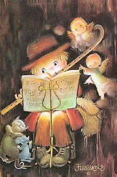 Juan Ferrandiz Castellsè stato un illustratorespagnolo, specializzato instorie per bambini e cartoline di Natale. Scultore, scr...