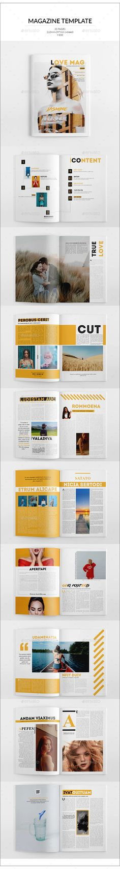 Buy Love Magazine Template by on GraphicRiver. The Magazine The Magazine. This layout is suitable for any project purpose. Resume Templates, Brochure Template, Flyer Template, Love Magazine, Social Media Template, Magazine Template, Photo Displays, Layout, Illustrations