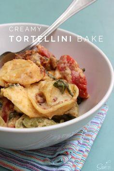 Creamy Tortellini Bake