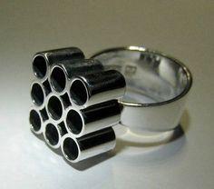 Heikki Kaksonen for Kaunis Koru (FI), vintage modernist sculptural sterling silver ring, 1965. #finland #etsy | finlandjewelry.com