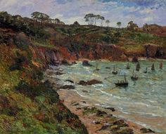 Fishing for sprats in Winter at Douarnenez by Maxime Maufra #art