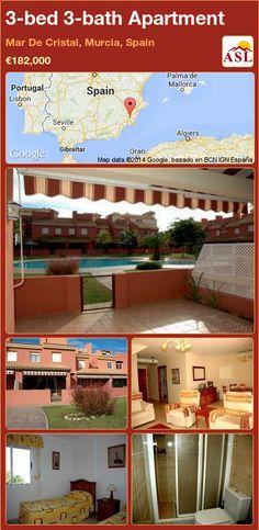 3-bed 3-bath Apartment in Mar De Cristal, Murcia, Spain ►€182,000 #PropertyForSaleInSpain