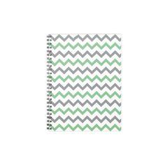 zigzag triangle geometric pattern soft pink grey note book