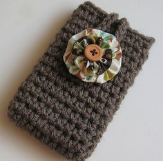 Crochet Cell Phone iPod iPhone Smart Phone Case by chickiescrochet,