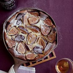 Black Mission Fig Clafoutis Recipe   Chef Matthew Accarrino cleverly adds juicy fresh figs to this delicious pancake-like French dessert, then tops it with port-infused whipped cream.