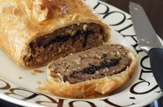 Chestnut and Mushroom Wellington  This is great with a roast dinner or make it into pasties instead of a Wellington and have for lunch