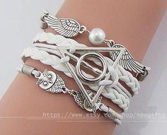 Harry potter bracelet Infinity bracelet Owls Wings & by NewGifts, $5.66