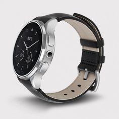 Vector Watch Luna - Çelik Kasa ve Siyah Deri Kordon Akıllı Kol Saati