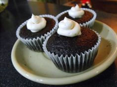 "Mimi's Whoopie Pie-Filled Chocolate Cupcakes: ""These are the most mouth-watering cupcakes you will ever have. They are very dark chocolate, very moist and filled with a whipped whoopie pie filling. These have been much loved in our family for years -- even more than whoopie pies."" -Mimi in Maine"