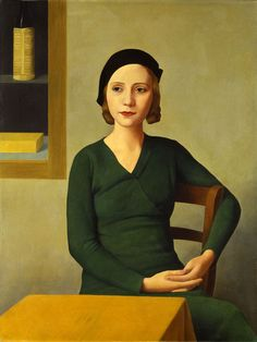 Antonio Donghi's Woman at the Cafe (1932), featured in Palazzo Strozzi's exhibition The 30s: The Arts in Italy Beyond Fascism
