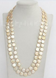 CHARMING 18 10-11 MM WHITE SOUTH SEA PEARL NECKLACE