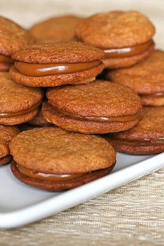 I've been on a caramel kick lately, and these Dulce de Leche sandwich cookies look soooo good...