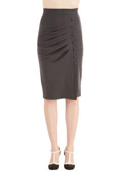 A Trip into Town Skirt in Charcoal | Mod Retro Vintage Skirts | ModCloth.com