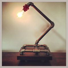 Steel pipe lamp