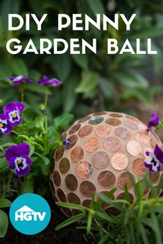 Garden Planning DIY Garden Art: Penny Ball - Say buh-bye to pesky slugs and hello to eye-catching garden art.
