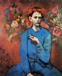 Picasso..blue period painting. The National Gallery's exhibit of Picasso's early years, which included his blue period, was one of the best I've ever seen. It provided lots of insight into the connection between the life of the artist and his art. #Picasso