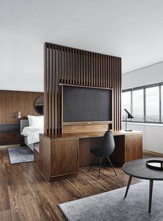 Inside the Renovation of the World's First Design Hotel – Furniture Makeover & Furniture Design Design Hotel, Design Design, Hotel Bedroom Design, Hotel Bedrooms, Design Ideas, Design Trends, House Design, Room Interior, Home Interior Design