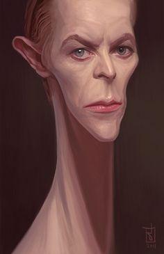 David Bowie  Artist: Alberto Russo