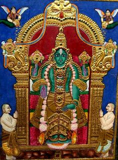 Tanjore painting - Mahavishnu