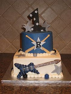 Shannon's Creative Cakes: Rock Star First Birthday