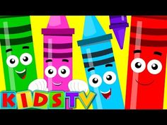 five little Crayons | crayons color song | learn colors | nursery rhymes | ` - YouTube