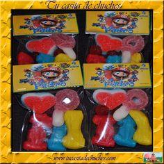bolsitas chuches personalizadas Mario Bros, sin gluten