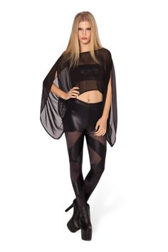 Sheer Straps Leggings by Black Milk Clothing by Divonsir Borges Girl Fashion, Fashion Outfits, Black Milk Clothing, Halloween Fashion, My Black, Dresses With Leggings, Pretty Outfits, Fashion Boutique, My Style