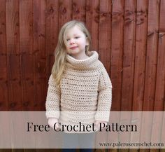 Toddler Roll Neck Sweater Crochet Pattern
