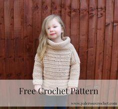 Toddler Roll Neck Sweater Crochet Pattern