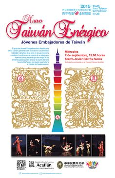 """Artes Escénicas: """"Nuevo Taiwán Enérgico"""". Teatro Javier Barros Sierra. Miércoles 2 de septiembre, 13:00 hrs. Solicita tus cortesías en el Centro Cultural Acatlán."""