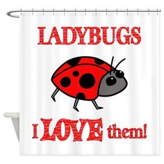Ladybugs Love Them Shower Curtain by FunDesigns - CafePress Snowman Cupcakes, Giant Cupcakes, Custom Shower Curtains, Fabric Shower Curtains, Cupcake In A Cup, Rose Cupcake, Hello Kitty Cupcakes, Princess Cupcakes, Apple Roses