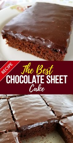 Best Chocolate Sheet Cake Recipe A velvety, tender, perfectly chocolate Texas sheet cake made from a tried-and-true family recipe.A velvety, tender, perfectly chocolate Texas sheet cake made from a tried-and-true family recipe. Chocolate Cake Recipe Easy, Best Chocolate Cake, Delicious Chocolate, Chocolate Recipes, Chocolate Frosting, Texas Chocolate Sheet Cake, Chocolate Making, Melted Chocolate, Simple Chocolate Cake