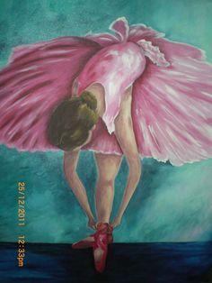 Pintura tela bailarina de Alacir Balbi