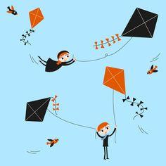 Flying Kites fabric by miss_honeybird on Spoonflower - custom fabric